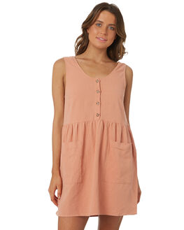 BLUSH WOMENS CLOTHING RHYTHM DRESSES - OCT18W-DR03BLS