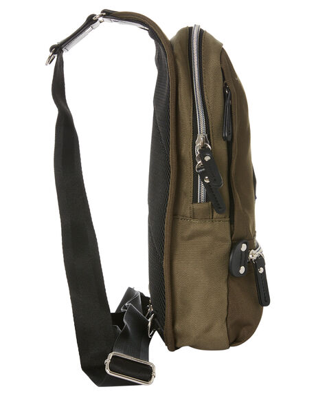 ARMY GREEN MENS ACCESSORIES HARVEST LABEL BAGS + BACKPACKS - HFC-9030-ARGRN