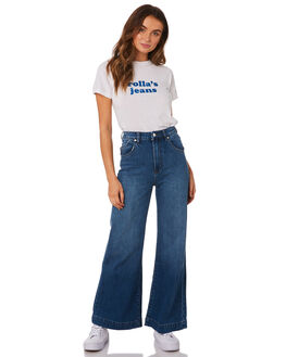 RINSE BLUE WOMENS CLOTHING ROLLAS JEANS - 13011-837