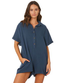 BLUE WOMENS CLOTHING SWELL PLAYSUITS + OVERALLS - S8201452BLU