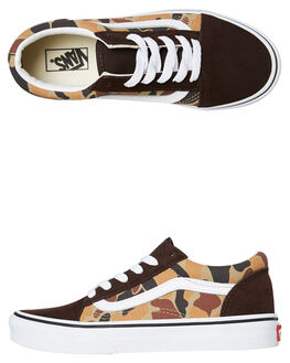 CHOCOLATE TORTE KIDS BOYS VANS SNEAKERS - VNA4BUUUY5