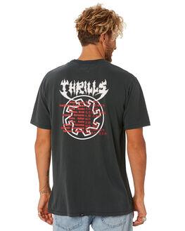 MERCH BLACK MENS CLOTHING THRILLS TEES - TS8-105MBMCBLK