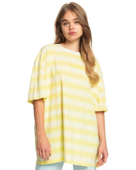 GREEN SHEEN BOYFRIEN WOMENS CLOTHING QUIKSILVER TEES - EQWKT03083-YHM6