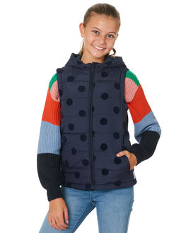 NAVY NAVY KIDS GIRLS EVES SISTER JUMPERS + JACKETS - 9530046NAVY