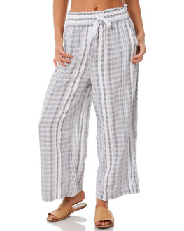 GREY STRIPE WOMENS CLOTHING ELWOOD PANTS - W83602GRSTR