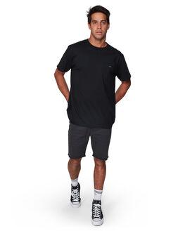 BLACK MENS CLOTHING RVCA TEES - RV-R107046-BLK