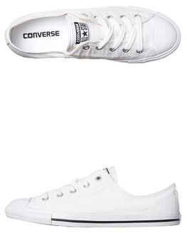 WHITE WOMENS FOOTWEAR CONVERSE SNEAKERS - 555891WHI