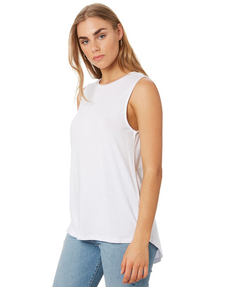 WHITE WOMENS CLOTHING BETTY BASICS SINGLETS - BB542WHI