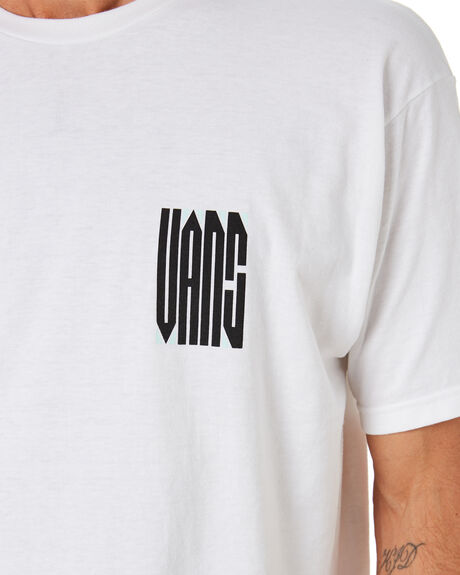 WHITE MENS CLOTHING VANS TEES - VN0A4RO9WHTWHT