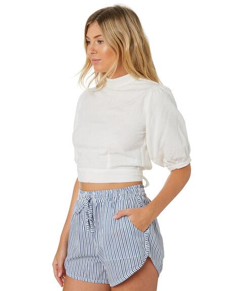 WHITE WOMENS CLOTHING RUE STIIC FASHION TOPS - SA-20-28-2WHT