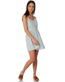 BLUE DITSY DAY PRINT WOMENS CLOTHING ALL ABOUT EVE DRESSES - 6423050PRNT2