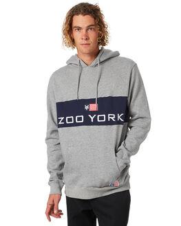 GREY HEATHER MENS CLOTHING ZOO YORK JUMPERS - ZY-MFA8146GRYH