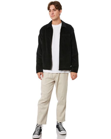 BLACK MENS CLOTHING THRILLS JACKETS - TA21-216BBLK