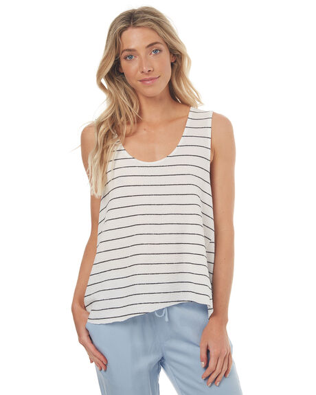 WHITE STRIPE WOMENS CLOTHING SWELL SINGLETS - S8171272WHTST