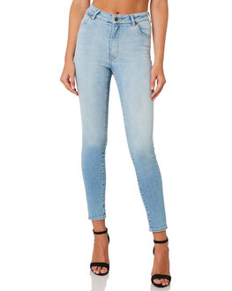 PHEONIX BLUE WOMENS CLOTHING ROLLAS JEANS - 12875-4326