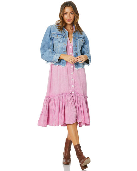 LIGHT DENIM WOMENS CLOTHING FREE PEOPLE JACKETS - OB11400884447