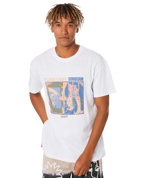 WASHED WHITE MENS CLOTHING MISFIT TEES - MT001015WSHWT