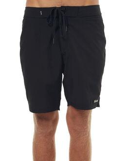 BLACK MENS CLOTHING AFENDS BOARDSHORTS - 10-01-077BLK