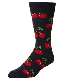 RED MENS CLOTHING HAPPY SOCKS SOCKS + UNDERWEAR - CHE01-6000MUL