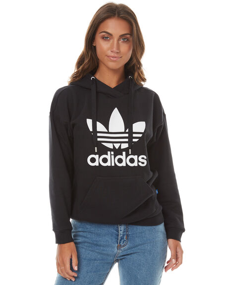 BLACK WOMENS CLOTHING ADIDAS ORIGINALS JUMPERS - BP9482BLK