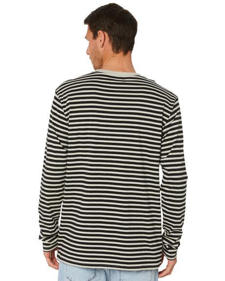 BLACK GREY MENS CLOTHING RPM TEES - 21PM11A1BLKGR