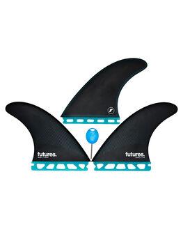 TEAL BLACK BOARDSPORTS SURF FUTURE FINS FINS - 1138-159-00TEABK
