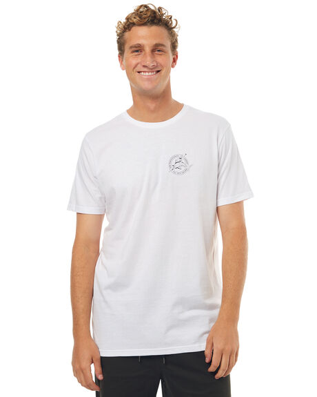 WHITE MENS CLOTHING RPM TEES - 7SMT06BWHT
