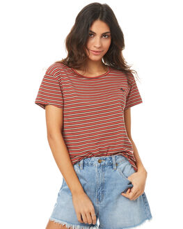 RED STRIPE WOMENS CLOTHING THRILLS TEES - WTH7-105HZRSTR