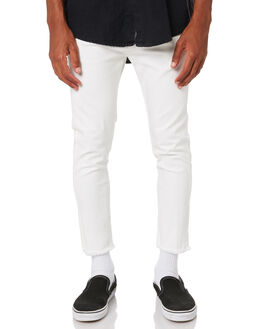 WHITE MENS CLOTHING THE PEOPLE VS PANTS - AW20084WHI