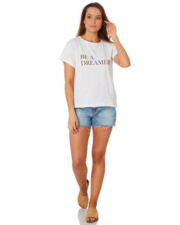 CREAM OUTLET WOMENS RHYTHM TEES - OCT19W-PT04CRE