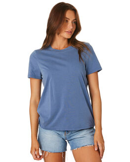 FADED BLUE WOMENS CLOTHING AS COLOUR TEES - 4065FDBLU