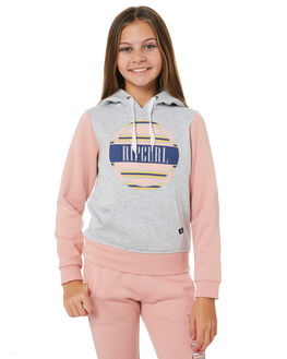 LIGHT GREY HEATHER KIDS GIRLS RIP CURL JUMPERS + JACKETS - JFEBM13233