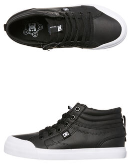 BLACK WOMENS FOOTWEAR DC SHOES HI TOPS - ADBS300307BLK