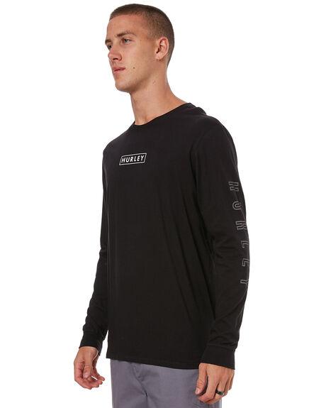 BLACK MENS CLOTHING HURLEY TEES - AH7916010