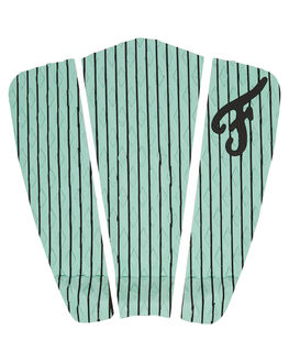 GREEN WHITE BOARDSPORTS SURF FAMOUS TAILPADS - HAM003GRNWH