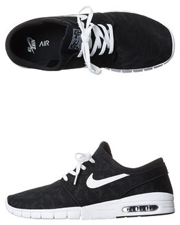 BLACK WHITE V MENS FOOTWEAR NIKE SKATE SHOES - SS631303-010M