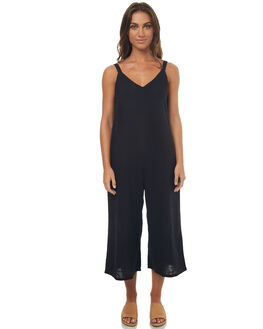 BLACK WOMENS CLOTHING BILLABONG PLAYSUITS + OVERALLS - 6572508BLK