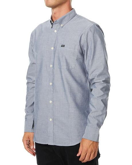 DISTANT BLUE MENS CLOTHING RVCA SHIRTS - R141216DBLU