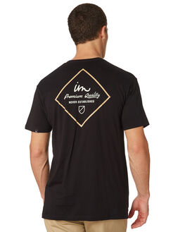 BLACK MENS CLOTHING IMPERIAL MOTION TEES - 201803002051BLK