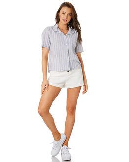 WHITE STRIPE WOMENS CLOTHING COOLS CLUB FASHION TOPS - 301-CW4WHIS