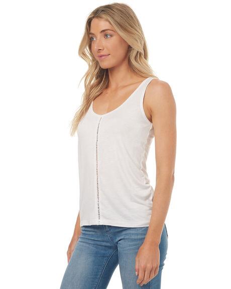 WHITE WOMENS CLOTHING RHYTHM SINGLETS - APR17G-CT01WHT