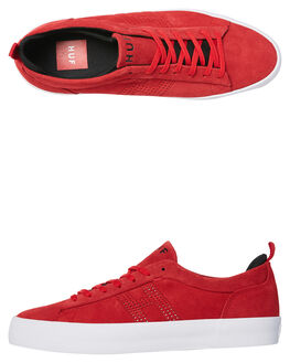 RED MENS FOOTWEAR HUF SKATE SHOES - VC00017RED