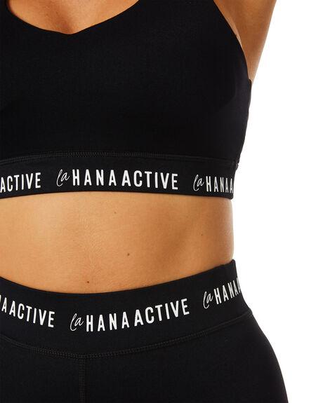 BLACK WOMENS CLOTHING LAHANA ACTIVEWEAR - LA-BLR-T-BLK