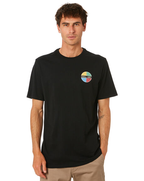BLACK MENS CLOTHING SWELL TEES - S5212009BLACK