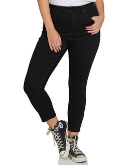 PREMIUM WASH BLACK WOMENS CLOTHING VOLCOM JEANS - B1931900PBLK