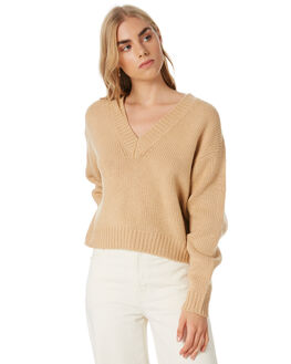 SAND WOMENS CLOTHING NUDE LUCY KNITS + CARDIGANS - NU23596SAND