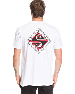 WHITE MENS CLOTHING QUIKSILVER TEES - EQYZT05694-WBB0