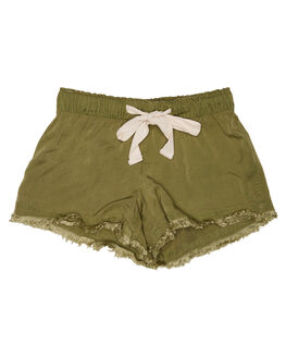 DARK OLIVE KIDS GIRLS ISLAND STATE CO SHORTS + SKIRTS - ULUWATUHORTS-DLOLV