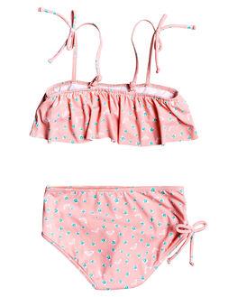 GERANIUM PINK KIDS GIRLS ROXY SWIMWEAR - ERLX203085-MFZ6