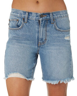 THRIFTED BLUE OUTLET WOMENS RUSTY SHORTS - WKL0653THB